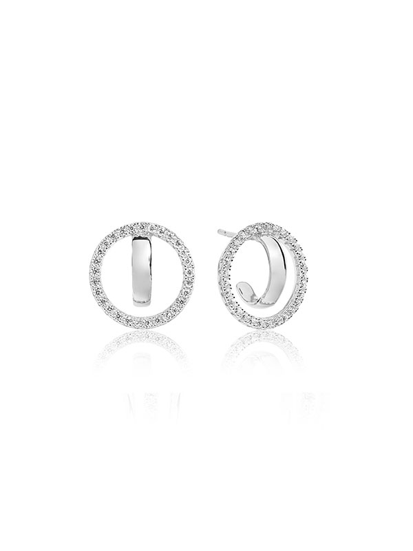 8c03c2aaa Sif Jakobs Earrings Ozieri Due with White Zirconia