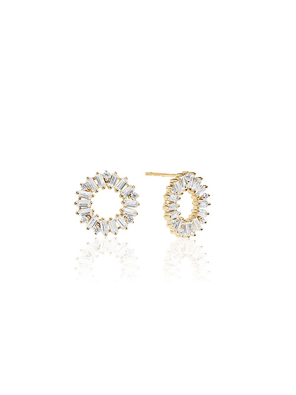 17f632209 Sif Jakobs Earrings Antella Circolo – 18k gold plated with white zirconia